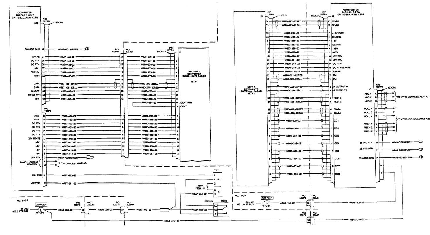 DOPPLER/GPS NAVIGATION SYSTEM WIRING DIAGRAM (Continued