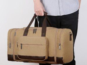 Canvas Travel Duffle Bags High Quality Travel Hand Luggage Bag Men Multi-functional Large Travel Organizer Weekender Travel Bag