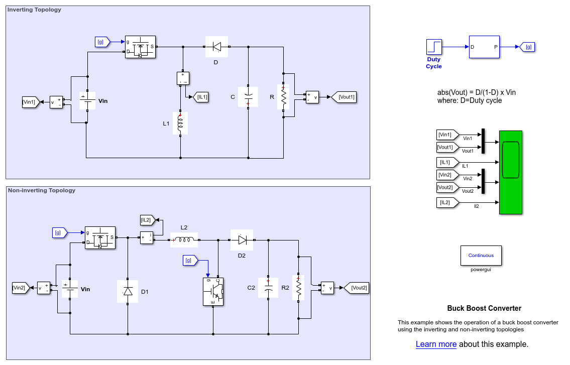 circuit diagram of buck boost converter kenwood car stereo kdc 248u wiring matlab simulink