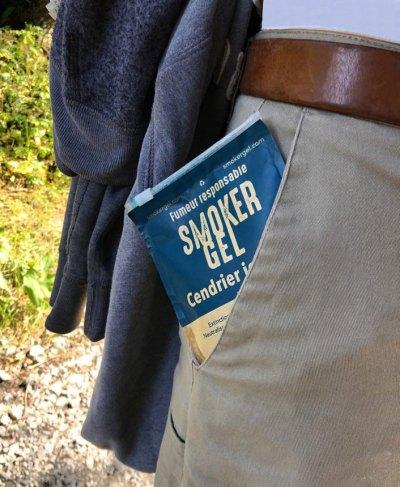 Cendrier de poche lors des promenades, randonnées
