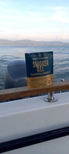 Pochette souple hermétique pour collecter les cendres en bateau