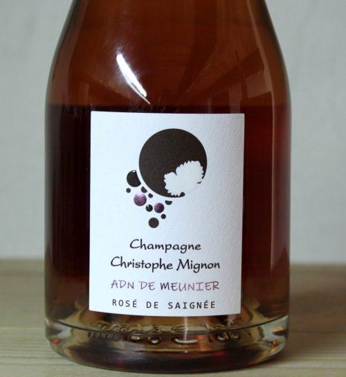 Christophe Mignon Champagne 'Rosé de Saignée' Meunier 2015