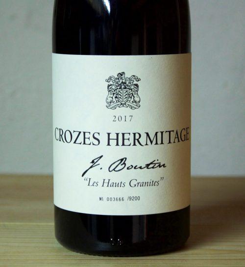 Jeannine Boutin Crozes Hermitage Les Hauts Granieten