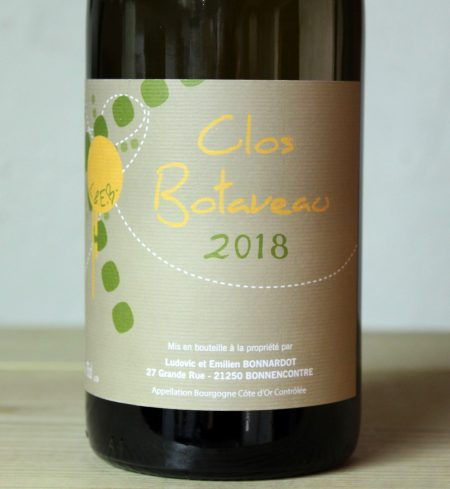 Bonnardot Bourgogne Cote d'Or Clos Botaveau 2018