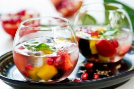 Ponche Tropical Diet com Frutas