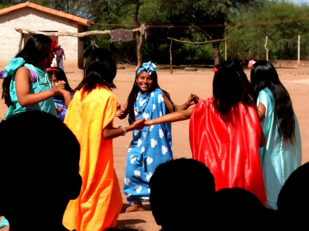Bolivia Chaco Fund Life Girls Dancing in Tres Pozos