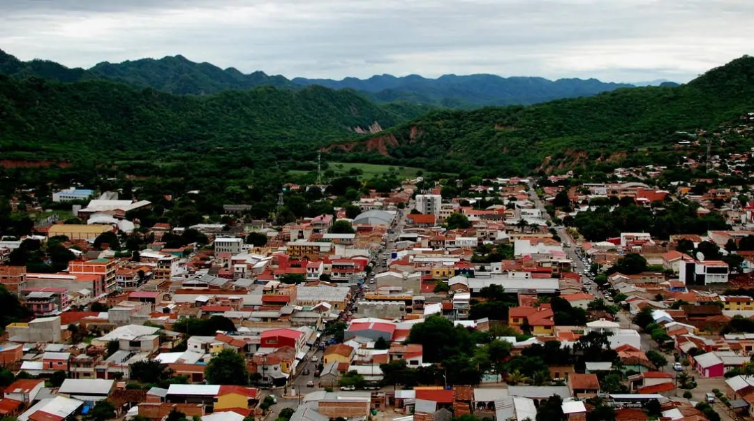 view over Camari, the Bolivian Chaco's second largest city