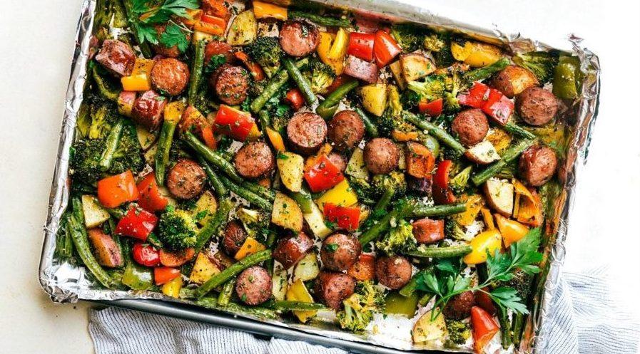 Lifestyle & Diet | Healthy Sausage & Veggie Dinner