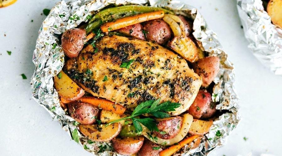 Foil Pack Recipe | Italian Chicken & Veggies