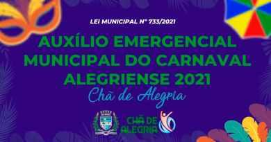 Prefeitura de Chã de Alegria sanciona Lei de Auxílio Emergencial ao Carnaval 2021