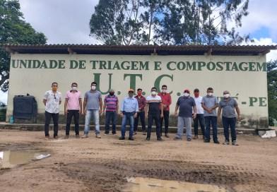 Comitiva Alegriense visita Unidade de Triagem e Compostagem de Sairé