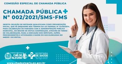 CHAMADA PÚBLICA Nº 002/2021/SMS-FMS