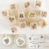 1Set-12Pcs-Vintage-Wooden-Box-Case-font-b-Rubber-b-font-font-b-Stamps-b-font