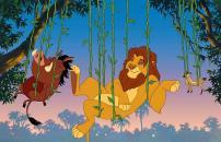 """Foto sem data Pumba, Simba e Timão no desenho animado """"O Rei Leão"""", do Estúdio Disney."""
