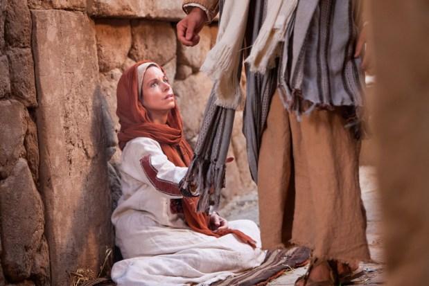 Jesus heals a woman
