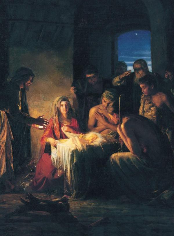 Carl Bloch Birth Of Jesus Chad' Random Musings