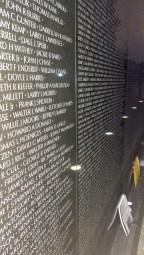 Some of the Vietnam Memorial's names
