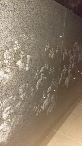 Reflecting wall of the Korean War Memorial