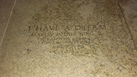 """The spot where MLK delivered """"I Have A Dream"""""""