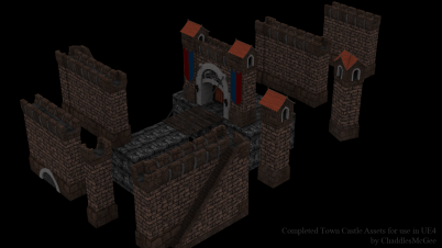 Castle Assets optimised for UE4