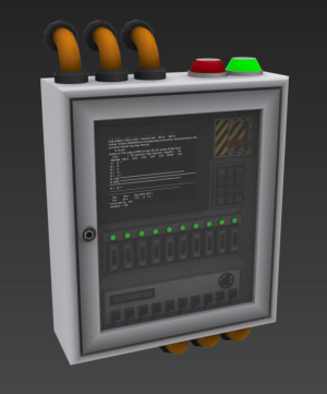 Security control panel afternoon concept