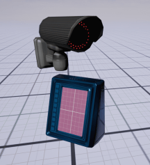 Basic Hand scanner and security camera mesh with simple colours
