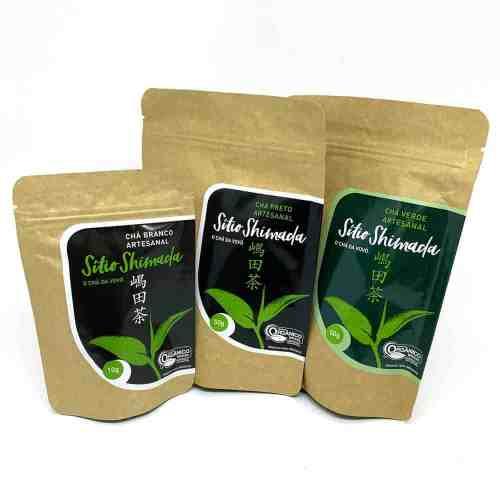 Kit Sítio Shimada: Chá Branco, Chá Preto e Chá Verde
