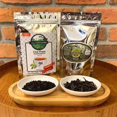 Kit Yamamaru | Chá Preto Agroflorestal 50g + Chá Verde Agroflorestal 50g