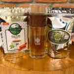 Chá Preto Agroflorestal Sítio Yamamaru 50g + Chá Verde Agroflorestal Sítio Yamamaru 50g + Garrafa de vidro duplo Eva 300ml com infusor inox