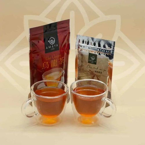 Kit 2x Canecas Anne 200ml + Chá Verde em Pó Amaya 40g + Chá Oolong Amaya 70g