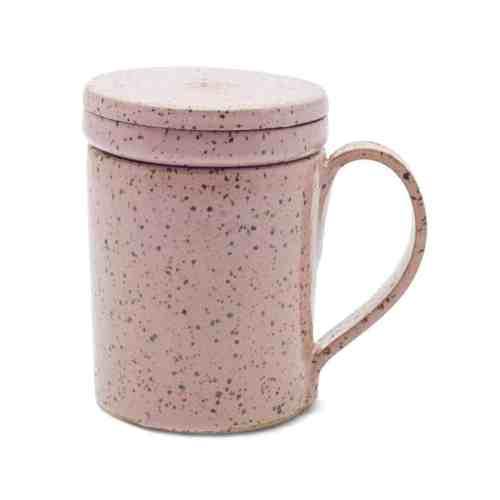 Caneca com infusor de chá em cerâmica Antonia | 250ml | Rosa