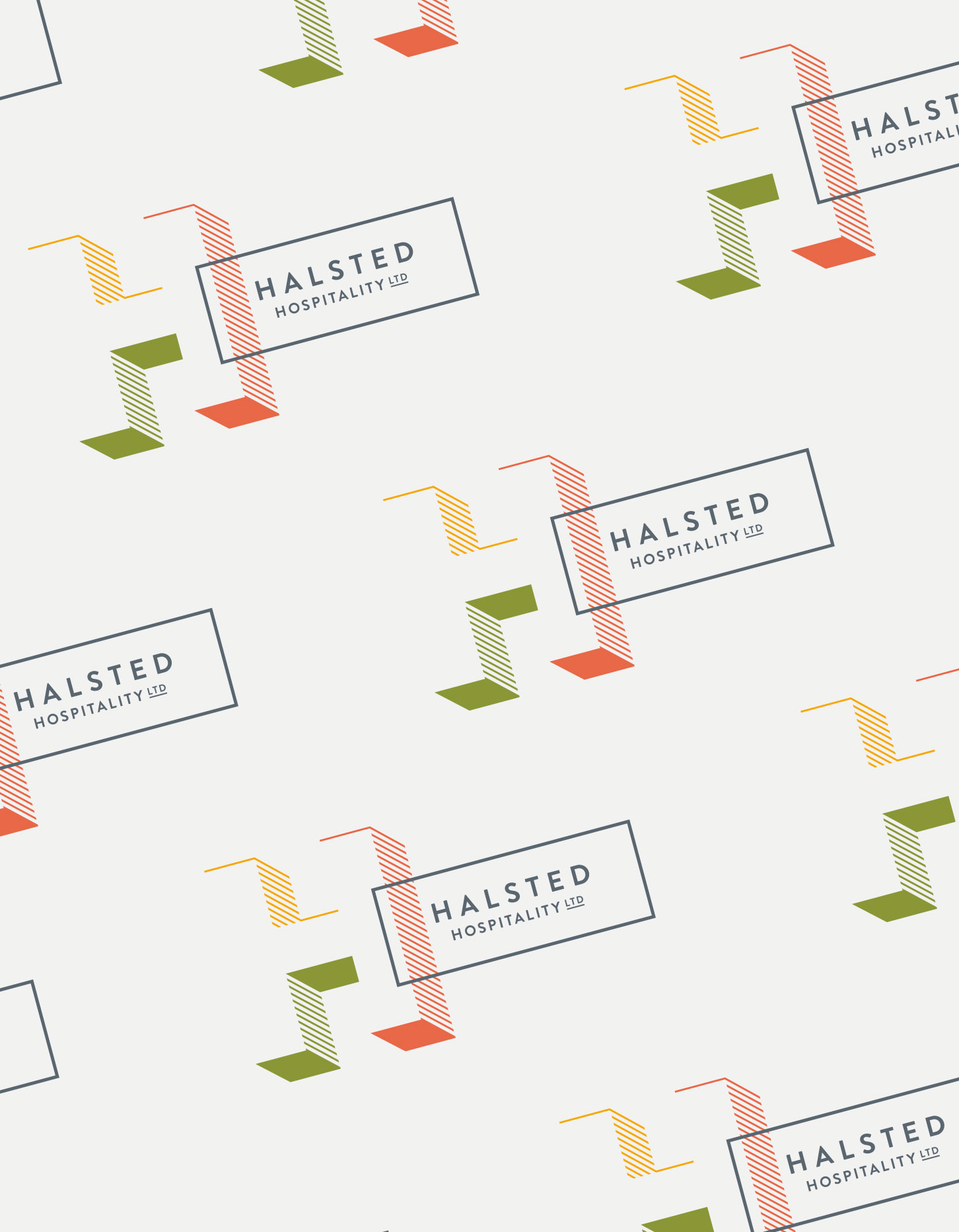 Chad Roberts Design Ltd. Halsted Hospitality Brand Identity Design