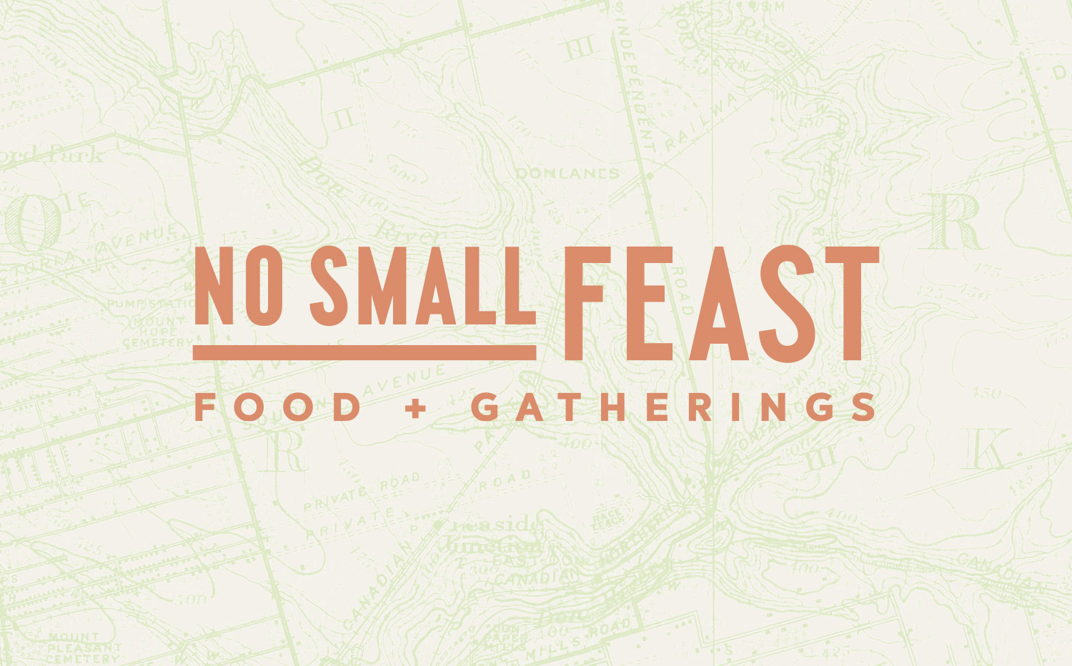 Chad Roberts Design Ltd. No Small Feast Brand Identity Design