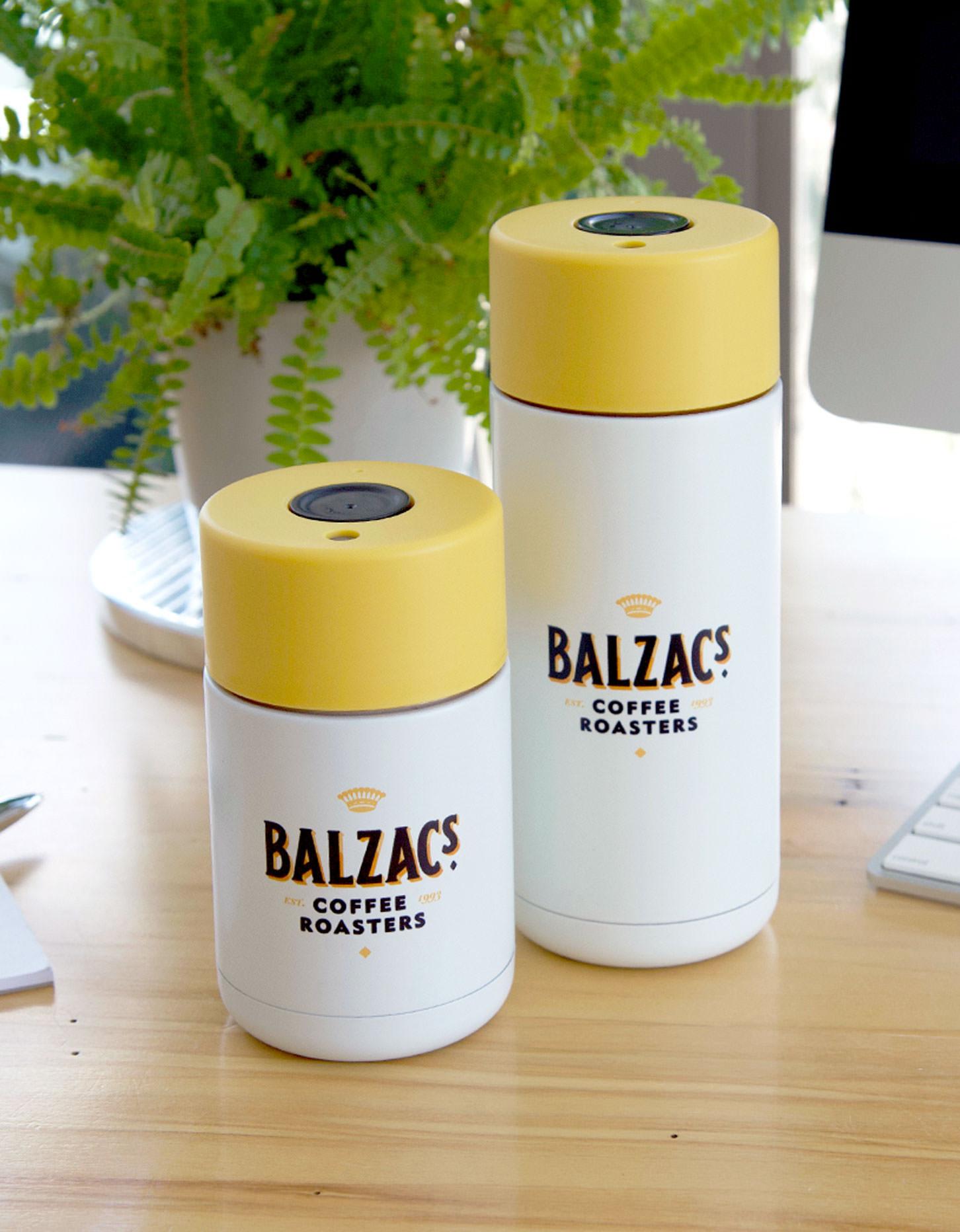 Chad Roberts Design Ltd. Balzac's Coffee Roasters Brand Identity Design Merchandise Design