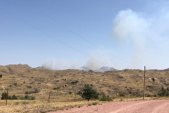 7:00 PM UPDATE - Crews Battling Wildfire SE Of Chadron (Video)