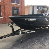 2010 Lowe's fishing boat, Mercury Optimum Motor and Karavan Trailer