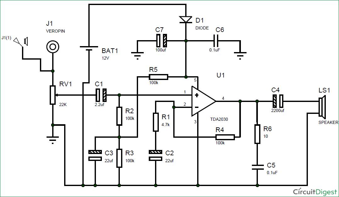 12v Subwoofer Amplifier Circuit Manual