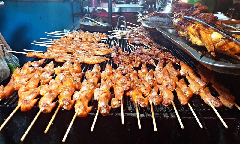 grilled chicken sticks