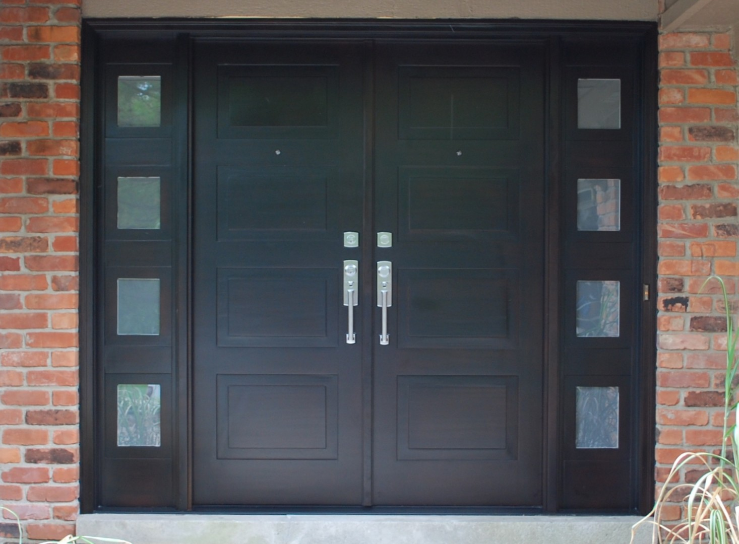 Modern Front Entry Doors In African Mahogany  Chad Womack