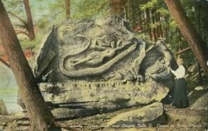 Squaw Rock postcard