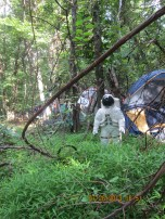 Random astronaut found further into the woods/tent land -- Carl Sagan may have been close by. Sources not yet confirmed.