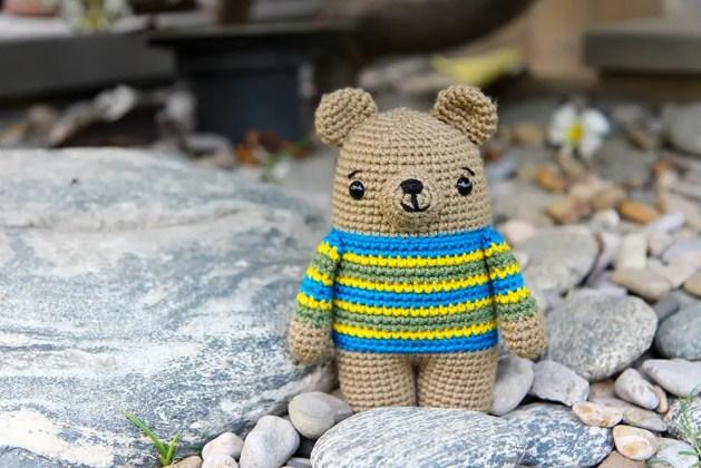 Bax the crochet bear