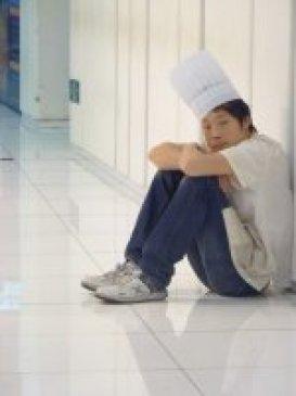 cuisinier fatigué