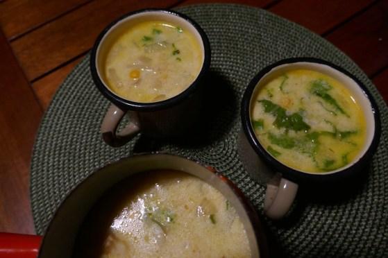 soupe maïs & crevettes