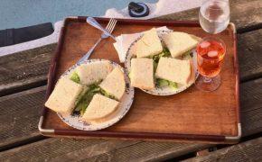 sandwich au thon, fèves, parmesan