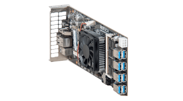 Rebtech 8 GPU All-in-one Mining Motherboard