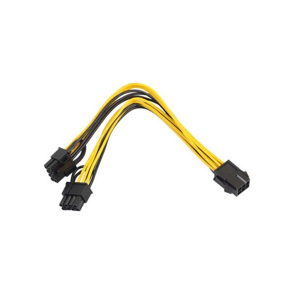 PCI-e 6-pin to Dual 8-pin Power Splitter Cable