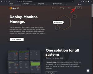 HiveOS Main Page