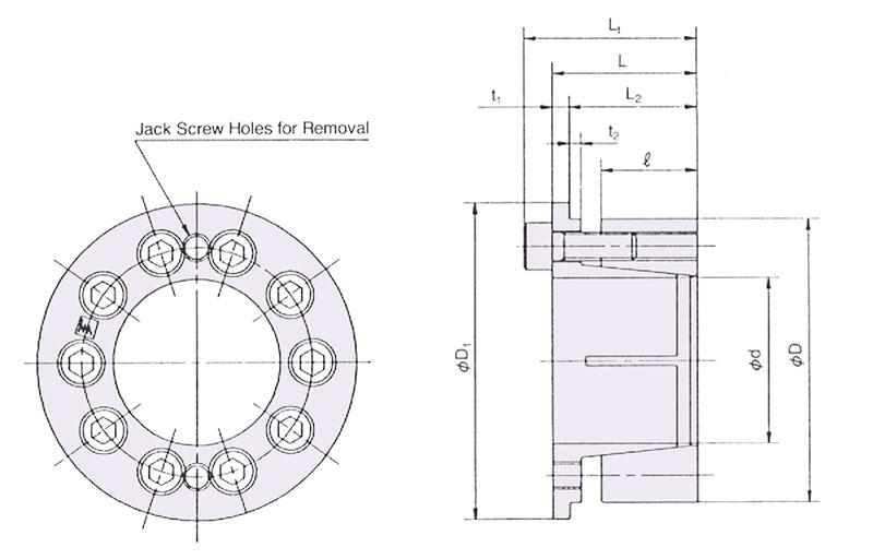 Item # PL035X060 AE, POWER-LOCK AE Metric Series Keyless