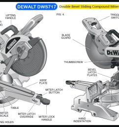 dewalt dws709 miter saw diagram large  [ 1337 x 711 Pixel ]